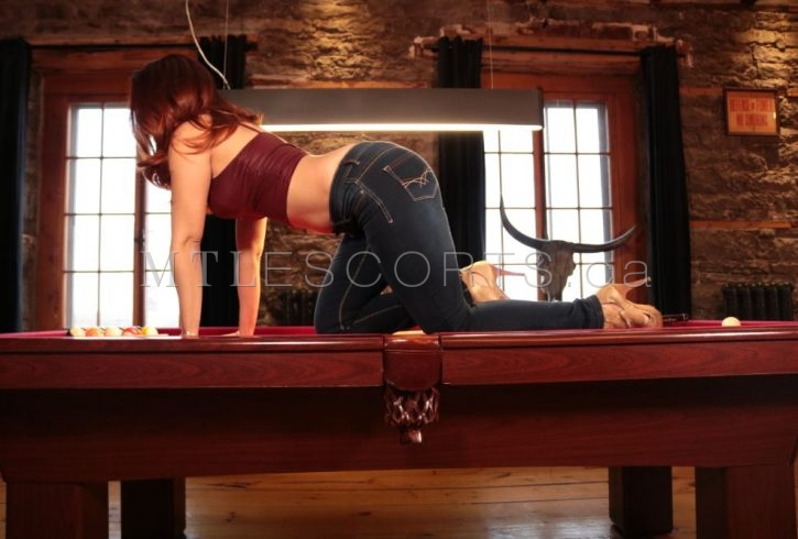Pool table escort Montreal Anna Perrena